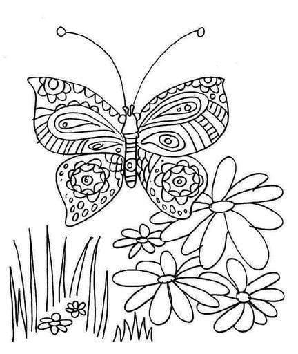 бесплатно раскраски для девочек бабочки распечатать