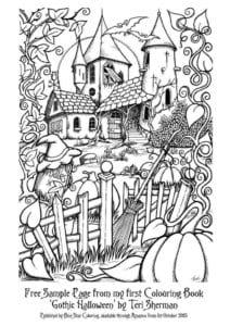 бесплатно  раскраски хэллоуин распечатать