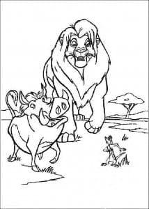 бесплатно раскраски король лев