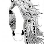 для девочек про лошадей раскраски