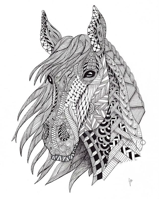 для девочек раскраски лошади распечатать бесплатно