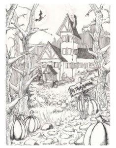 бесплатно  раскраски на хэллоуин для распечатки