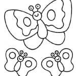 бесплатно раскраски про бабочек