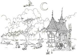 бесплатно  раскраски про хэллоуин распечатать