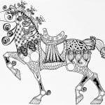 для детей лошади раскраски
