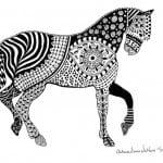 для детей онлайн раскраска лошадь