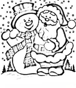 бесплатно раскраски про новый год для детей А4
