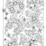 бесплатно распечатать а4 раскраска бабочка