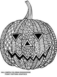 бесплатно распечатать большие раскраски на хэллоуин