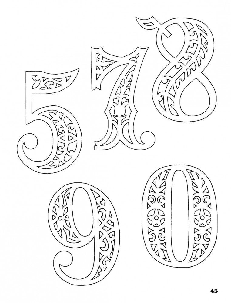бесплатно распечатать цифры 1 10 картинки раскраски