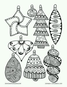 бесплатно распечатать для детей раскраска новый год А4