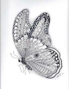 бесплатно распечатать для малышей раскраска бабочка