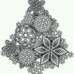 бесплатно распечатать елки на новый год раскраски