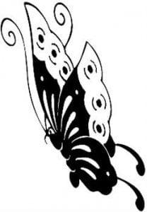 бесплатно распечатать  формат а4 раскраски бабочки