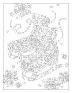 бесплатно распечатать год и рождество раскраски новый А4