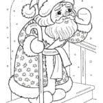 бесплатно распечатать год раскраска зима новый А4