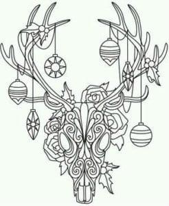 бесплатно распечатать год раскраски елки на новый А4