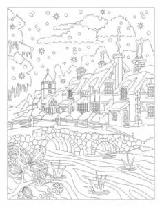 бесплатно распечатать год в лесу новогодние раскраски новый А4