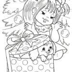 бесплатно распечатать игры раскраски новый год А4