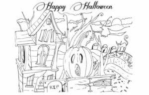 бесплатно распечатать интересные раскраски на хэллоуин