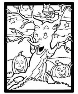 бесплатно распечатать картинки для хэллоуина страшные раскраски