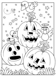 бесплатно распечатать картинки тыквы на хэллоуин раскраска