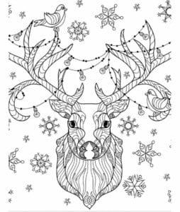 бесплатно распечатать лет новый год раскраски детям 4 5 А4