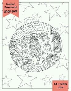 бесплатно распечатать на тему новый год раскраски А4