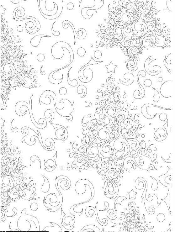 бесплатно распечатать на весь лист раскраски новый год
