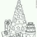 бесплатно распечатать нового года раскраска празднование