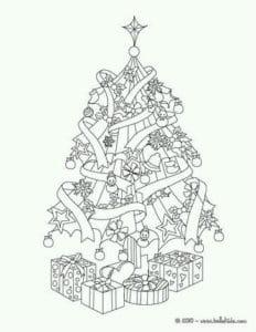 бесплатно распечатать новогодние раскраски новый год в лесу А4