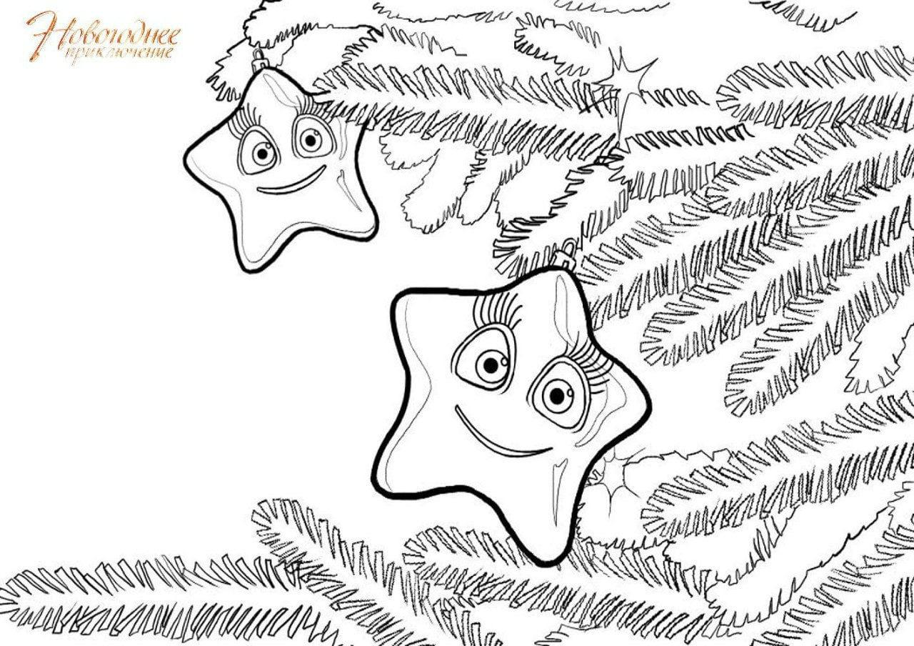 бесплатно распечатать новый год раскраска зима а4 рисовака