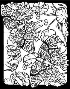 бесплатно распечатать раскраска антистресс бабочки