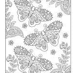 бесплатно распечатать раскраска бабочка