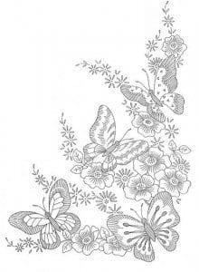 бесплатно распечатать раскраска бабочки для детей