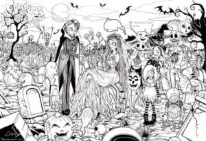 бесплатно распечатать раскраска на хэллоуин для мальчиков