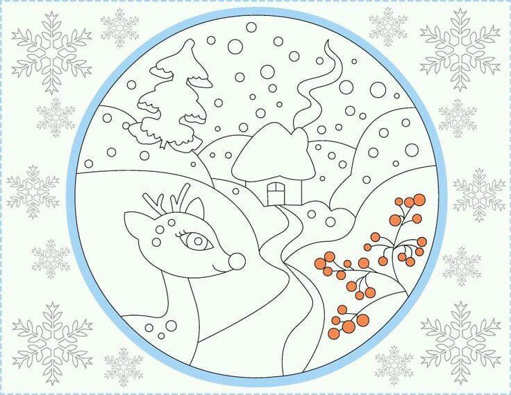 бесплатно распечатать раскраска новый год скачать