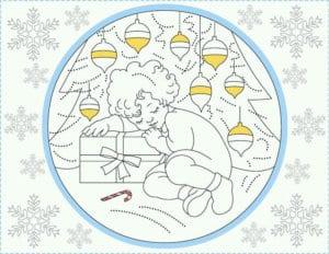 бесплатно распечатать раскраска празднование нового года А4