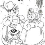 бесплатно распечатать раскраска зима новый год А4