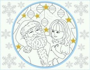 бесплатно распечатать раскраски для детей с новым годом 2017 А4
