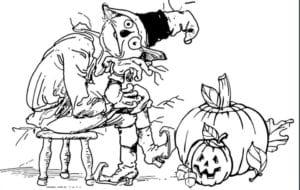 бесплатно распечатать раскраски для девочек на хэллоуин
