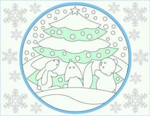 бесплатно распечатать раскраски для нового года игрушки А4
