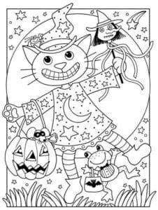 бесплатно распечатать раскраски к празднику хэллоуин
