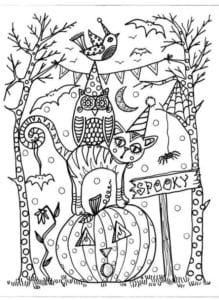бесплатно распечатать раскраски маленькие хэллоуин