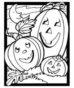 бесплатно распечатать раскраски на хэллоуин
