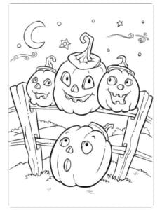 бесплатно распечатать раскраски на тему хэллоуин