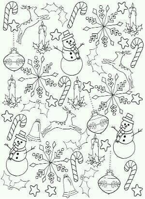 бесплатно распечатать раскраски новый год распечатать