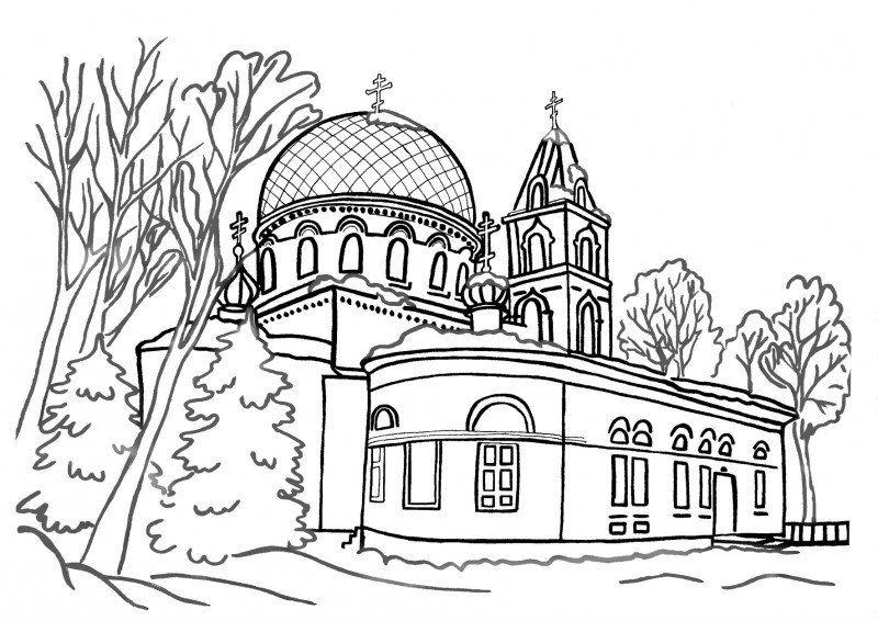 бесплатно распечатать раскраски православные