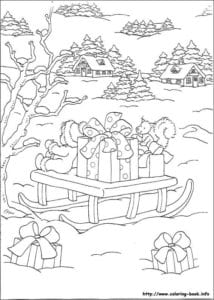 бесплатно распечатать раскраски про новый год для детей распечатать А4