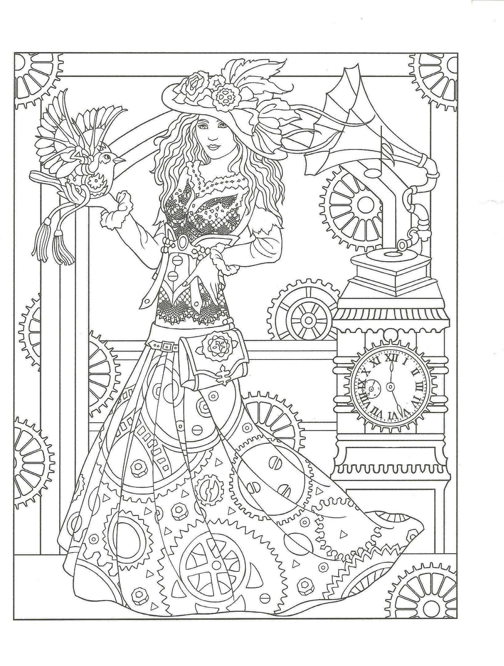 бесплатно распечатать рисунки карандашом стимпанк